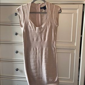 French Connection Pink Sparkly Bodycon Dress